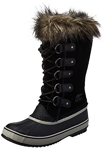SOREL Women's Joan of Arctic Boot — Black, Quarry — Waterproof Suede Snow Boots — Size 10