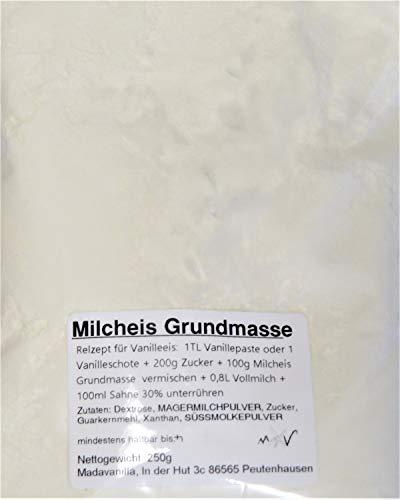 250g Milcheis Grundbasis - Eispulver Milcheisbasis -