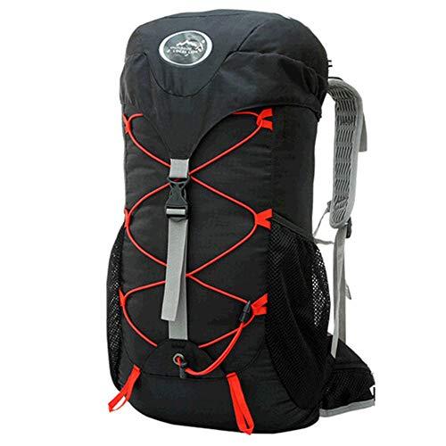 Backpack Grande randonnée imperméable à l'eau en Nylon léger Faisant du vélo Voyage Sac à Dos de Camping pour Femmes Hommes Adultes,Black
