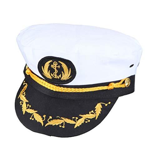 Chapeau Capitaine de Luxe, largeur tête 56, carnaval marin marin Admiral