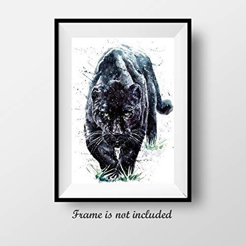 "7Dots Art. Wild Animals. Watercolor Art Print, Poster 8""x12"" (A4) on Fine Art Thick"