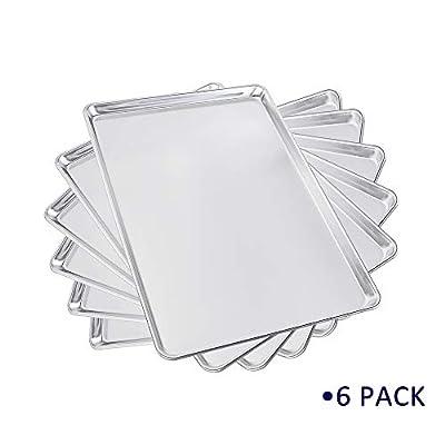 Sheet Pan Aluminum Bakeware Set 6 Pack 15'&...