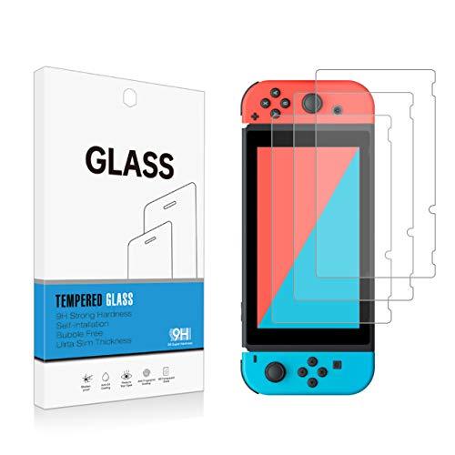 Ei-Tiger Displayschutzfolie für Nintendo Switch, gehärtetes Glas, Härtegrad 9H, Premium-HD-Klarheit, 2,5D, einfache Installation, 3 Stück