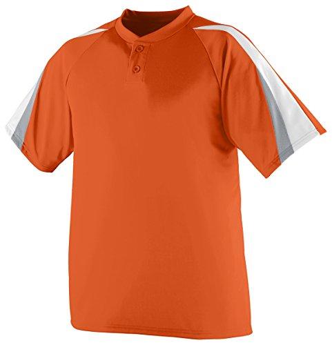 Augusta Sportswear Men'S Power Plus Baseball Jersey M Orange/White/Silver Grey