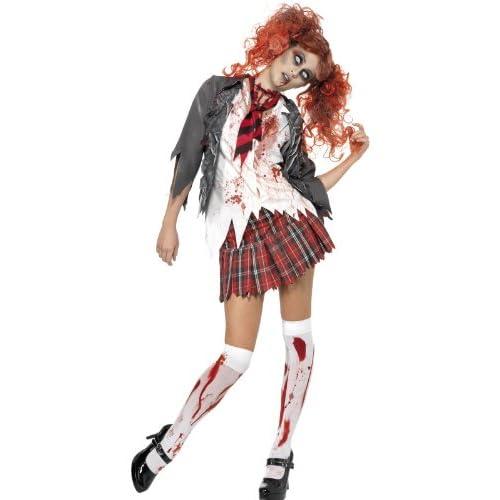 Smiffys Costume High School Horror Zombie Scolaro, Grigio, comprende Giacca, Camicia att