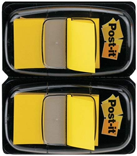 Post-it 680-Y2EU Index Flags - Dual Pack 25mm - Yellow (50 Flags x 2)