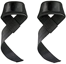 YYGIFT Anti-Slip Weight Lifting Straps for Weightlifting Crossfit Workout Bodybuilding and Powerlifting - Padded for Extra...