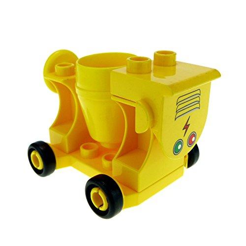 1 x Lego Duplo Zement Mischer gelb Beton mischen Baustelle für Set 4988 42092c01 42235 42234 42236pb04