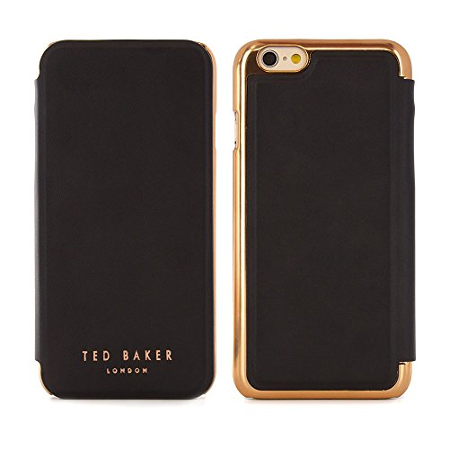 Ted Baker 2016 Collection iPhone 6S / 6 Case, Official iPhone 6S Leather Wallet Cover with Rose Gold Finish, Professional Women's iPhone 6S Cover Fashion Case