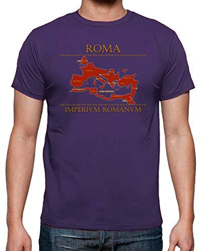 latostadora - Camiseta Mapa Imperio Romano para Hombre