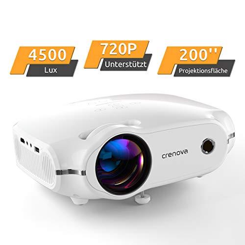 Beamer, portabler CrenovaMini Projektor unterstützt1080P, HD Beamer mit 200