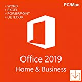Microsoft Office Home & Business 2019 [1PC/Mac] [Software-Download] - Word, Excel, PowerPoint, OneNote, Outlook