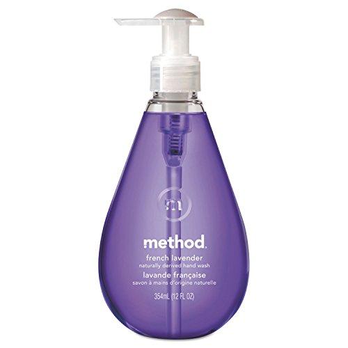 Method 00031CT Gel Hand Wash French Lavender 12 oz Pump Bottle 6/Carton