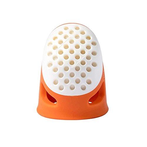Prym 431135 Dé À Coudre Ergonomique, Plastic, Orange, 1,86 x 1,47 x 2,54 cm