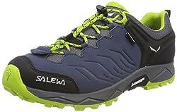 Salewa JR Mountain Trainer Waterproof Unisex-Kinder Trekking- & Wanderhalbschuhe, Grau (Quiet Shade/Hot Coral), 33 EU