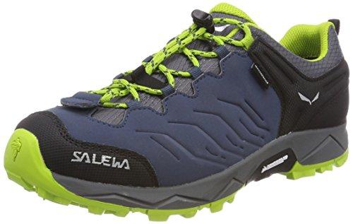 Salewa JR Mountain Trainer Waterproof, Zapatos de Senderismo Unisex Niños, Azul (Dark Denim/Cactus), 31 EU