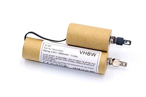 vhbw Akku kompatibel mit Gardena Rasenkantenschere Accu 3 (Standard, 2315, 2500) Rasen-Schere, Gartenschere Ersatz für Accu3 - (NiMH, 3000mAh, 3.6V) Batterie