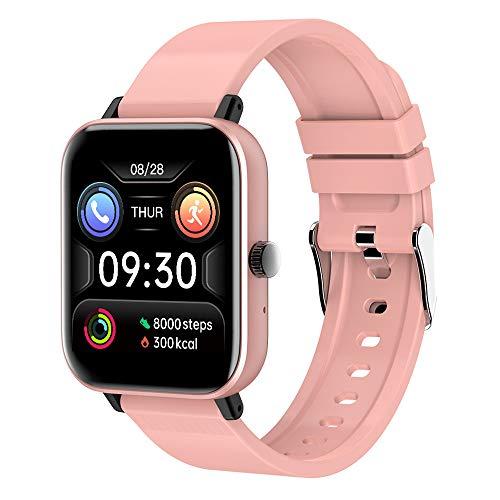 NYWENY Reloj inteligente, pulsera inteligente, pulsera inteligente, resistente al agua y duradero, monitoreo de fitness, monitoreo de frecuencia cardíaca y presión arterial, pantalla a color.