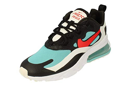 Nike Femmes Air Max 270 React Running Trainers DA4288 Sneakers Chaussures (UK 6.5 US 9 EU 40.5, Black Chile Red Bleached Aqua 001)