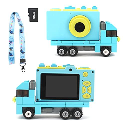 Ukuu Camara de Fotos para Niños con Pantalla de 2,0 Pulgadas Selfie Cámara Digital 1080P HD Infantil 32GB TF Tarjeta USB Recargable Video Cámara para Niños 3 a 12 años de Niños y Niñas Cumpleaños