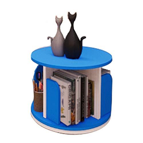 Independiente decorativo Estantería giratoria, almacenamiento giratorio de 360 °, estante de estantería de escritorio, decoración de escritorio, para estudio de dormitorio Organizador de almacenamie