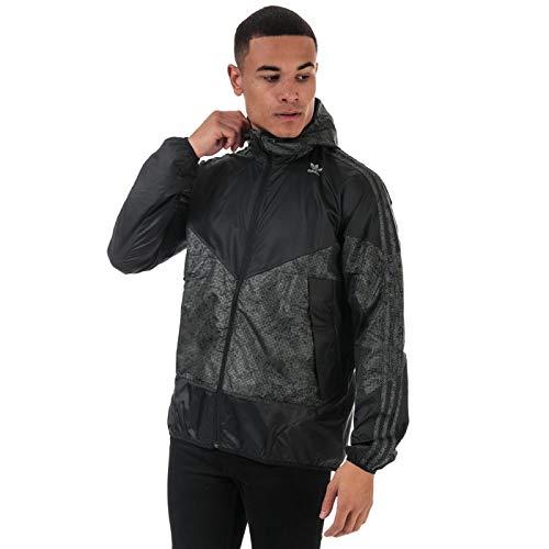 Adidas Originals PT3 - Chaqueta cortavientos para hombre, color negro