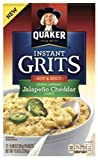 Quaker Grits Jalapeno Cheddar, Hot & Spicy 11.8 Ounce ( 2 Pack)
