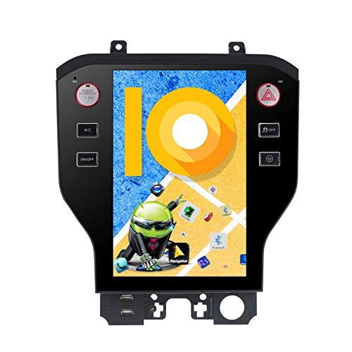 ZWNAV 11,8 Zoll vertikaler Bildschirm Android 9.0 One Din Auto Stereo Navi Bluetooth GPS Navigation für Ford Mustang 2015-2019 Adapter Head Unit WiFi Carplay (4 + 64 GB)