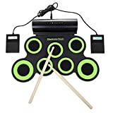 OriGlam Electronic Drum Pad, Electronic Drum Set, Built-In Speaker, Digital Roll-Up Drum Practice