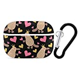 Cute Platypus Queen Hard PC Case Cover for AirPods Pro, Protective Anti-Scratch Case Cover with Keychain