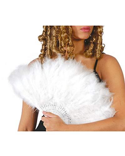 Horror-Shop abanico de plumas blanco