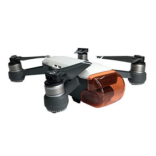 Yivibe Copriobiettivo Antigraffio Protezione Della Macchina Fotografica Drone Gimbal Guard Anteriore Sistema Sensore 3D Tappo Antipolvere per DJI Spark (Colore: Rosso)