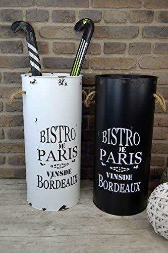 Livitat® Schirmständer 60 x 28 cm Regenschirmständer Landhaus Vintage Blech Metall Retro LV5056 (Weiß)