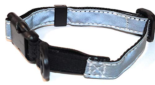 Cat Elastic Reflective Safety Collar (Silver)