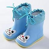 ADDYZ Zapatos de lluvia para niños y niñas cálidos zapatos antigoma niños-18...
