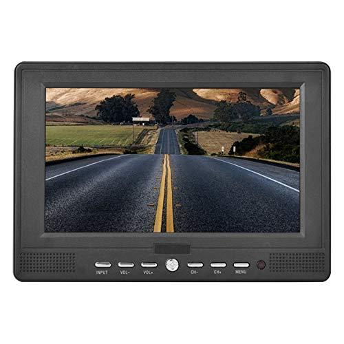 Dpofirs TV portátil de 7 '' para el automóvil al Aire Libre TV de Mano 16: 9 T/T2 TV 1080P TV Digital Reproductor de televisión Soporte de Video 1080p, Soporte de TV/ATV analógico, TV automóvil Mini