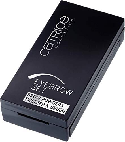 Catrice Eye Brow Set, Nr. 010, braun, definierend, volumengebend, langanhaltend, matt, vegan, Mikroplastik Partikel frei, Nanopartikel frei (4g)