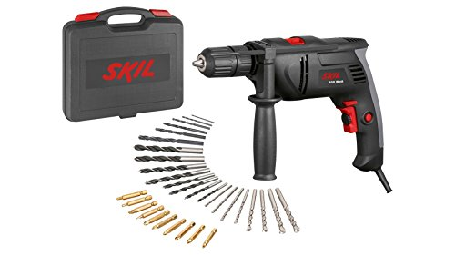 Skil F0151021AD 850Watt, 13 mm KL Chuck with Lock, in case + 32 Drill and Screw Bits