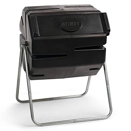 Great Deal! FCMP Outdoor 37 Gallon One Piece Tumbling Composter Bin for Soil (2 Pack)