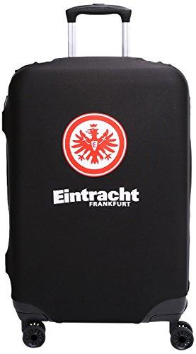 MarkenMerch Kofferhülle Eintracht Frankfurt Koffer, 77 cm, Schwarz Mit Logo
