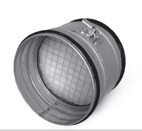 Luchtfilter wikkelplooibuis, buis inbouwfilter, ventilatie filter afvoerlucht toevoerlucht 125 mm