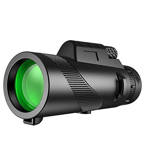 Monocular Telescope 12X50 High Power Monocular with Smartphone Holder & Tripod Day & Low Night Vision Waterproof Zoom Telescope BAK4 Prism Dual Focus for Hunting Bird Watching (Black) (Jet)