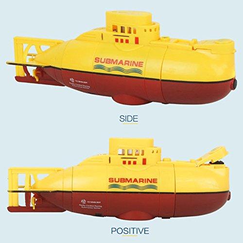 Eleganantstunning Mini RC U-Boot Schiff 6Ch High Speed Funkfernbedienung Boot Modell Elektro Kinder Spielzeug gelb