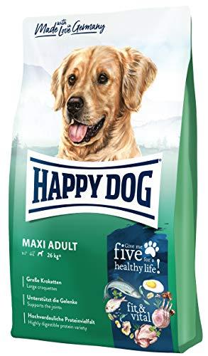 Happy Dog fit & vital Maxi Adult - Premium-Hundetrockenfutter für große Hunde Aller Rassen - 4 kg 7cm