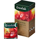 [2 PACK] Herbal tea Greenfield SUMMER BOUQUET raspberries Beverages Grocery Gourmet Food [25 of tea bags in 1 PACK]