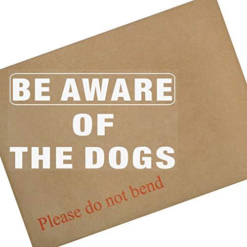 Platina Plaats 1x Wees op de hoogte van de DOGS-Window lijm Vinyl Sticker-WHITE op CLEAR-Security Waarschuwing Sign-Home