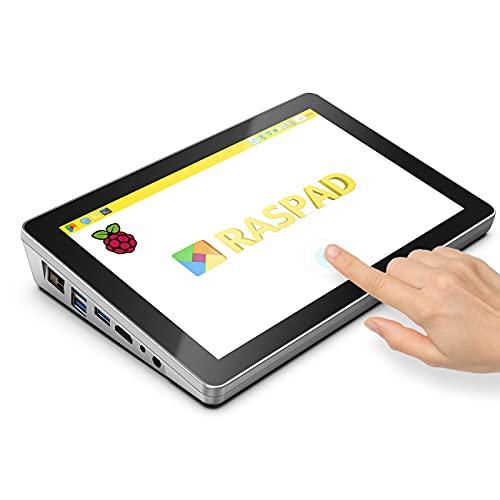 SunFounder RasPad 3.0 - Batería portátil Raspberry Pi para tablet Raspberry Pi, pantalla táctil de 10,1 pulgadas y audio en una compatible con Raspberry Pi 4B para proyectos IoT/AI/autopiloto