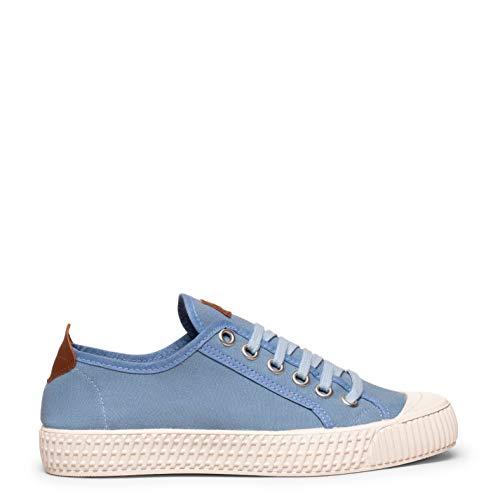 Bamba Zapatillas de Lona para Mujer Azules