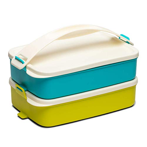 Tupperware Click to Go Lunch Carrier 900ml 2pc