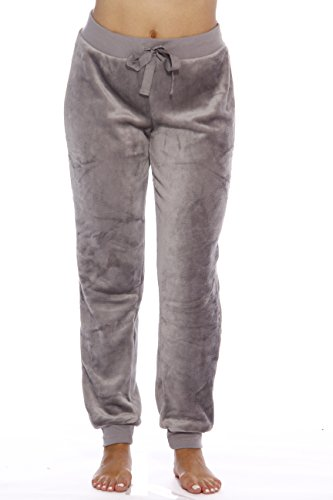 Just Love - Pantalón de chándal de felpa para mujer, Nickel Cement, 3X Plus